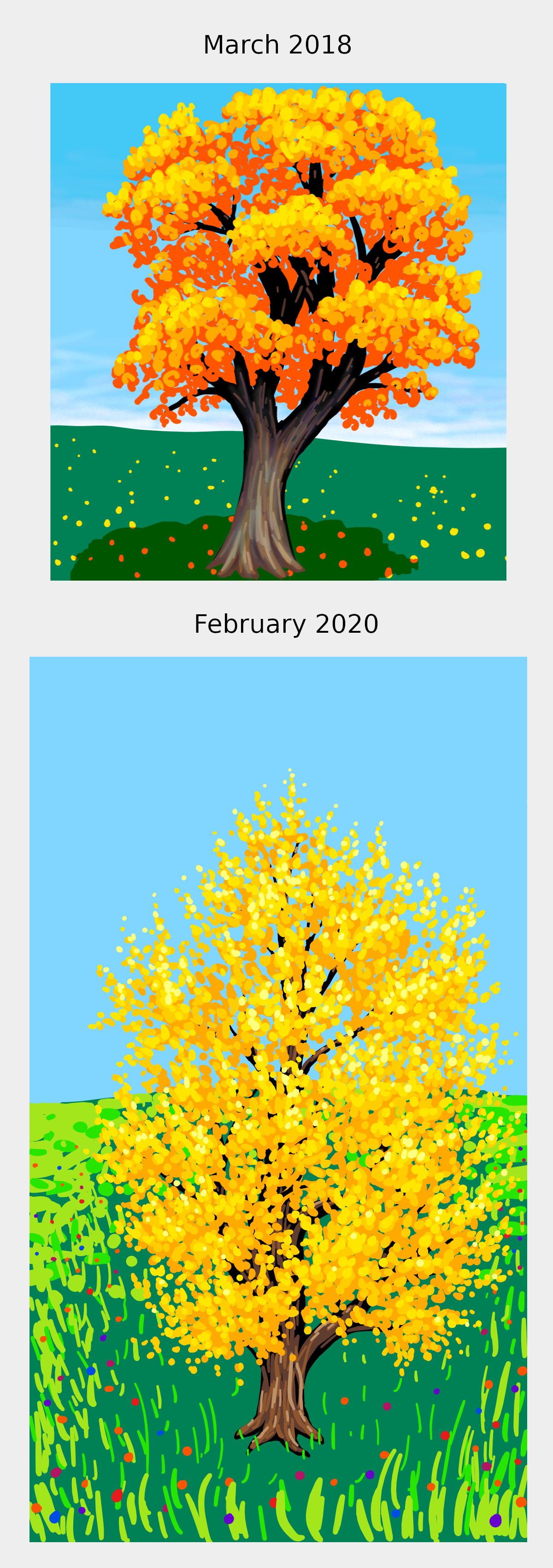 Yellow-orange tree