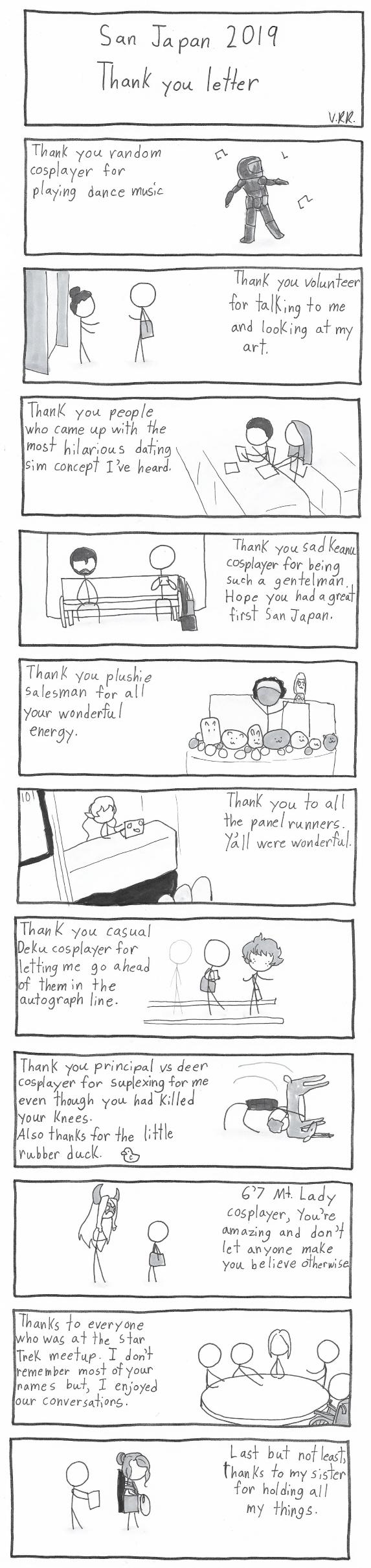 San Japan 2019 Thank You Letter
