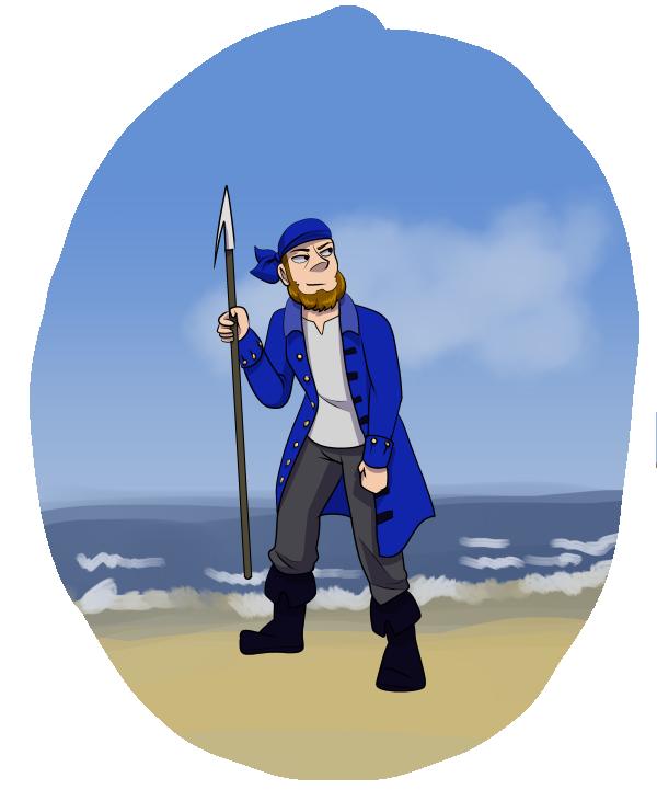Sören as Pirate (by JammyTheBirb)