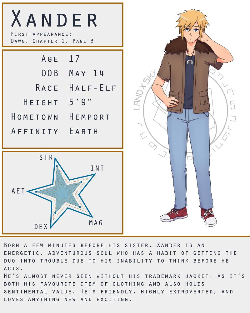 Character Stat Sheet: Xander