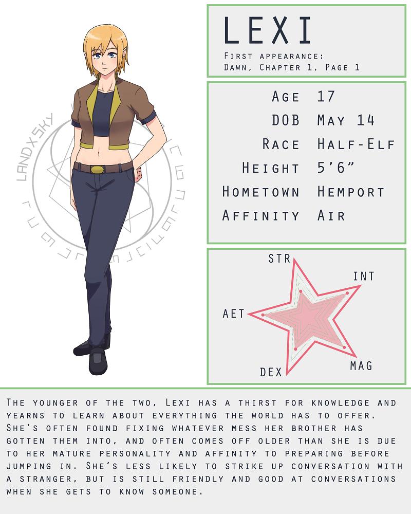 Character Stat Sheet: Lexi