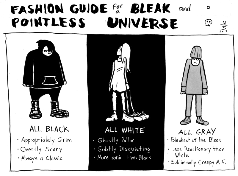 Black, White, Gray
