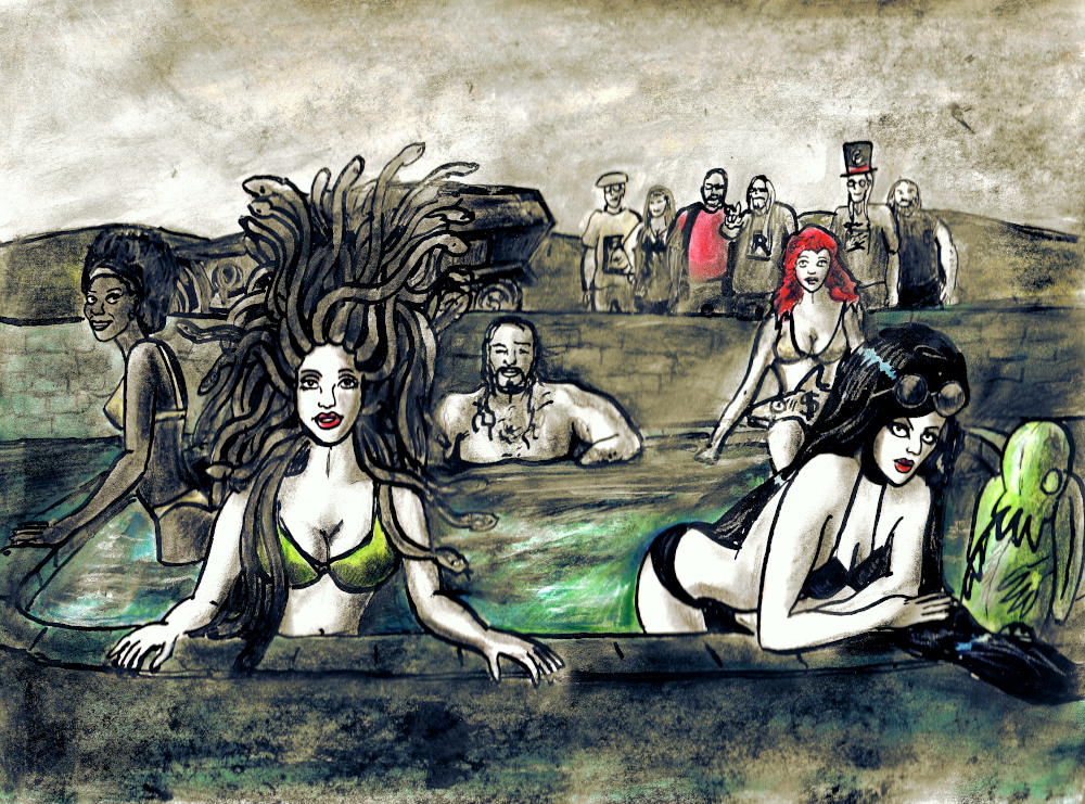 Ariane's Pool Party (by Stilldown)