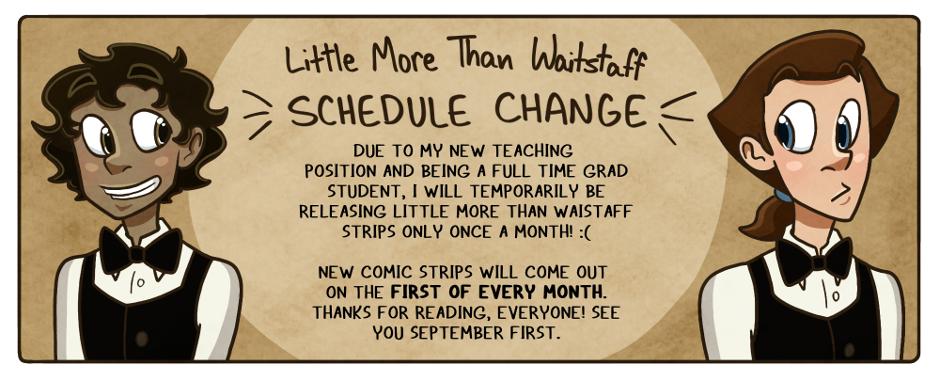 Schedule change!