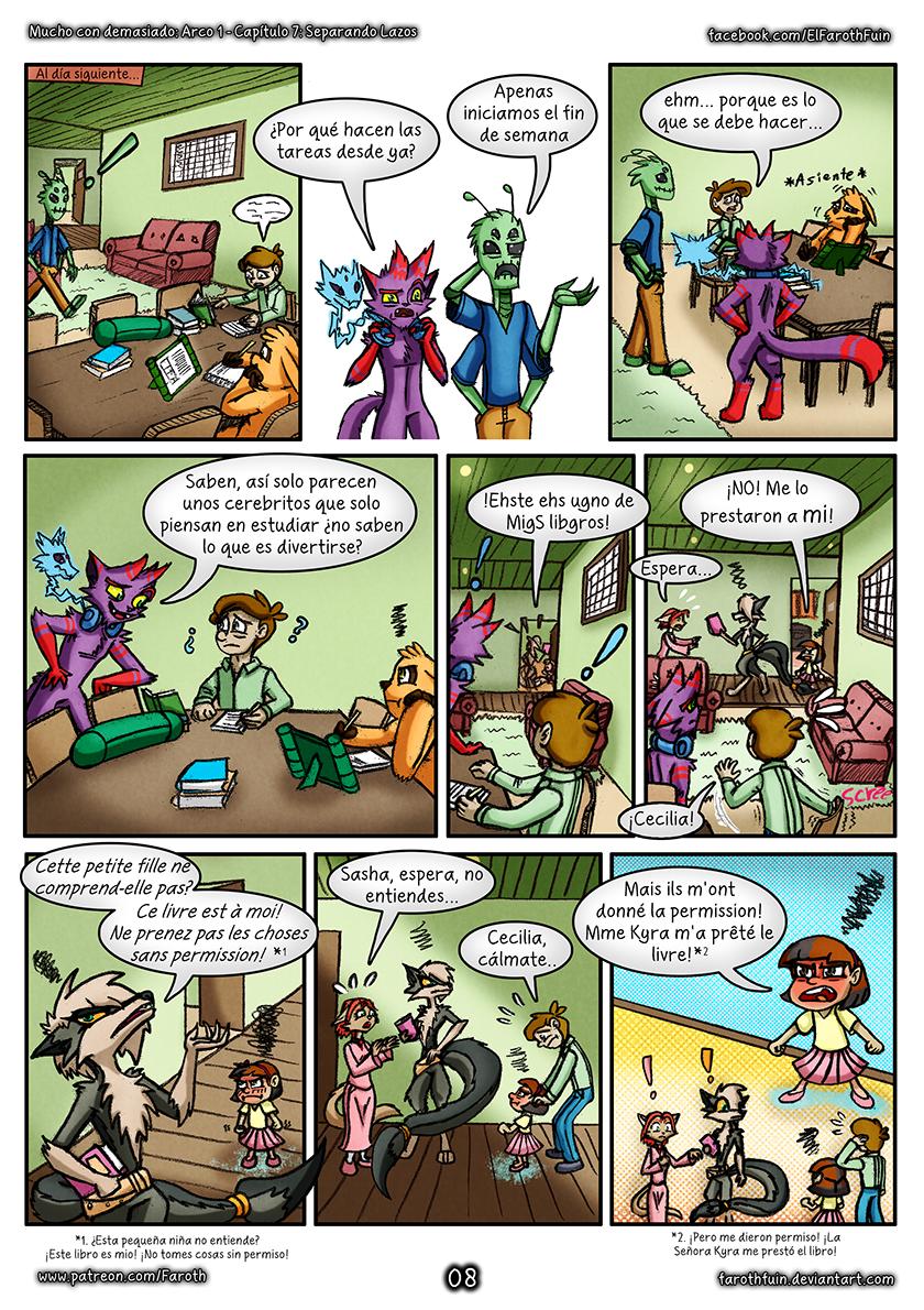 Cap 7 - Pag 8: Tareas y libros