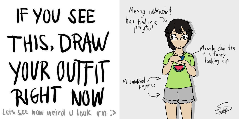Random Self Portrait Doodle