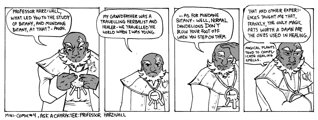 Ask a character- Professor Harzivall