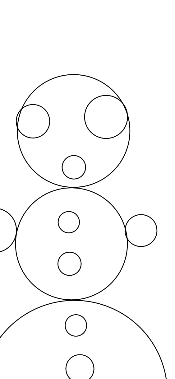 I drew using only circles