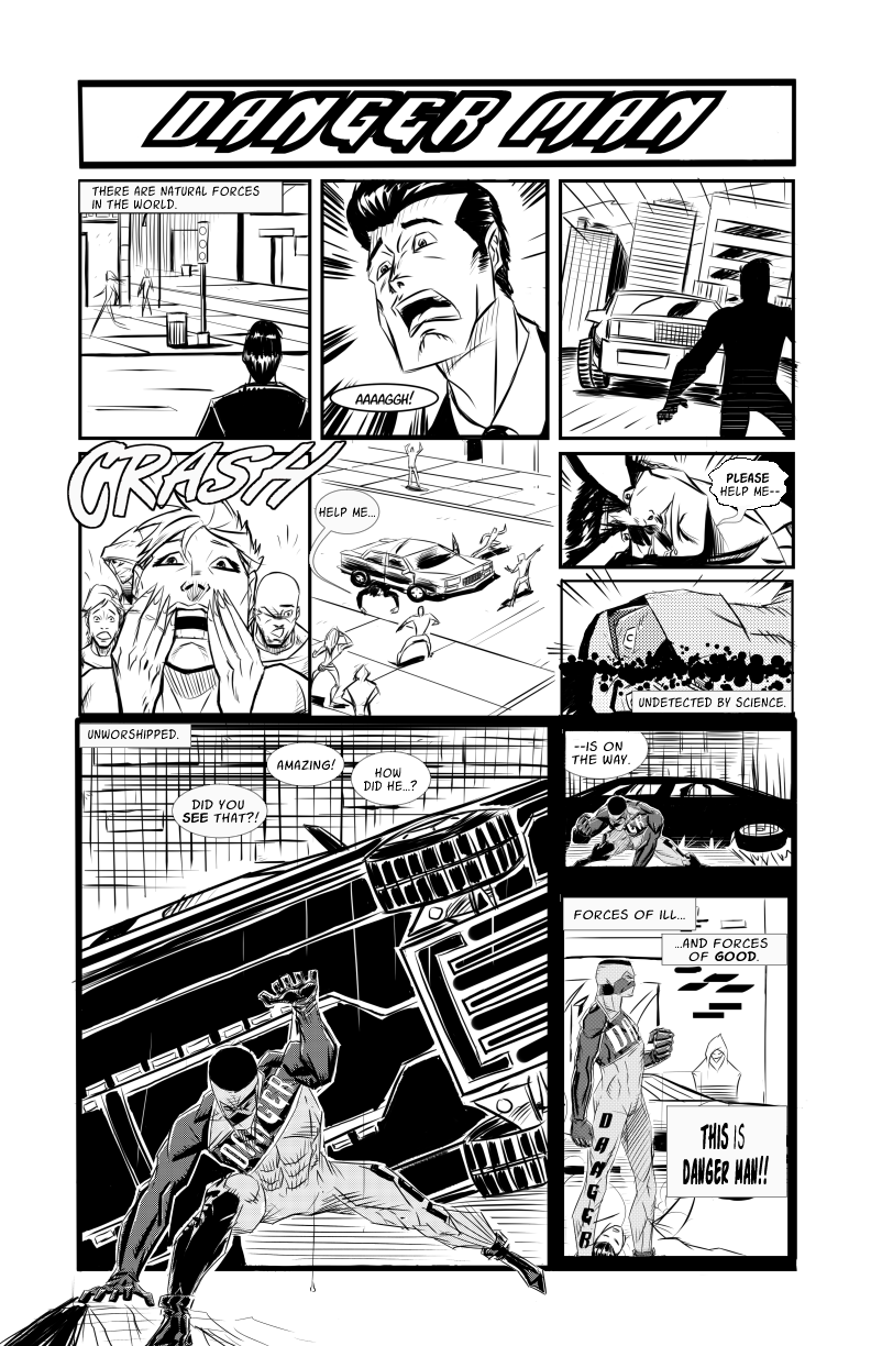 """Danger """"Man"""" (corrected single page story)"""