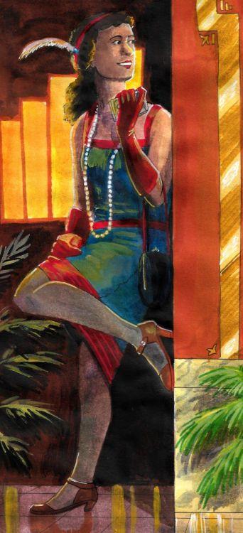 Future Cleo in the Roaring Twenties (by The Doodler)