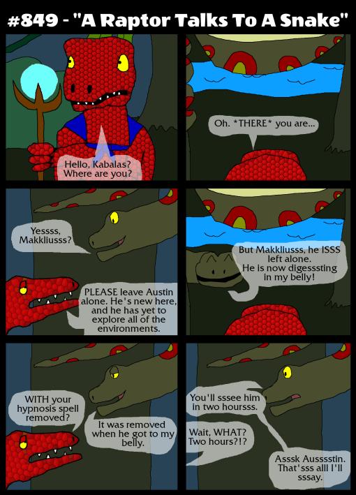 "#849 - ""A Raptor Talks To A Snake"""