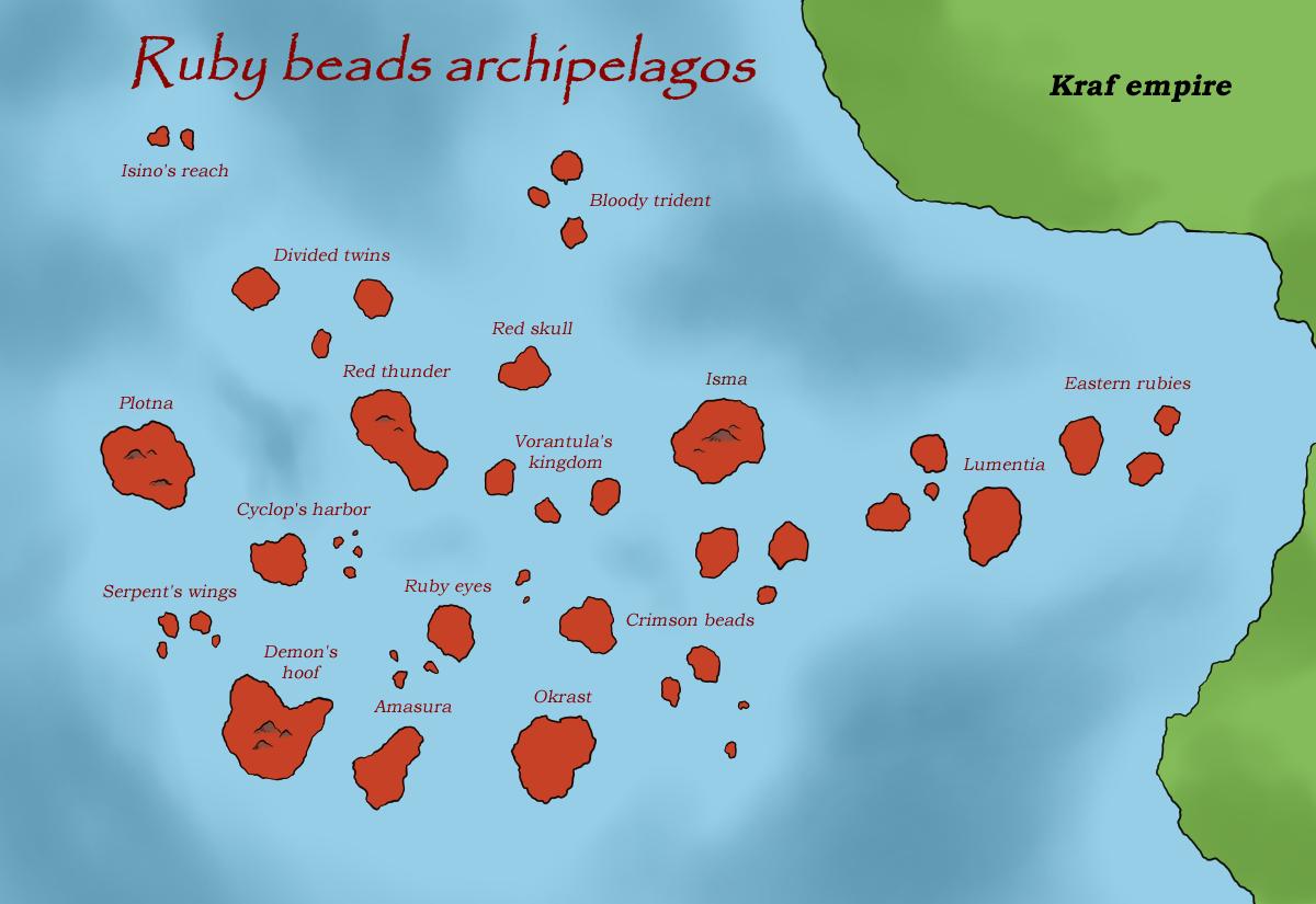 Ruby beads archipelagos