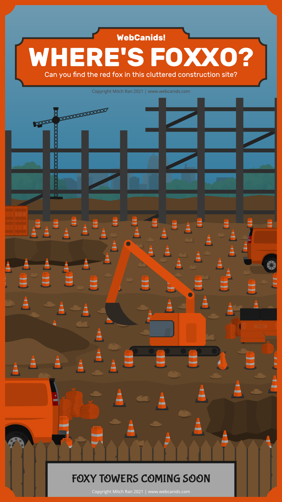Where's Foxxo - The Cluttered Construction Site