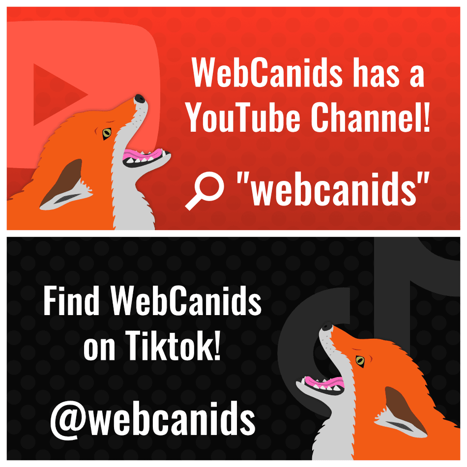 WebCanids on YouTube and Tiktok!