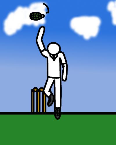 Anthropo-dress-up week - Bowler, Cricket