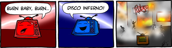 Fire in the disco!