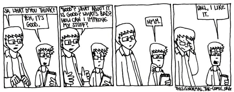 Unconstructive Criticism