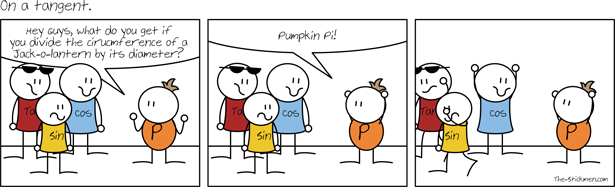 On a tangent - Pumpkin Pi!