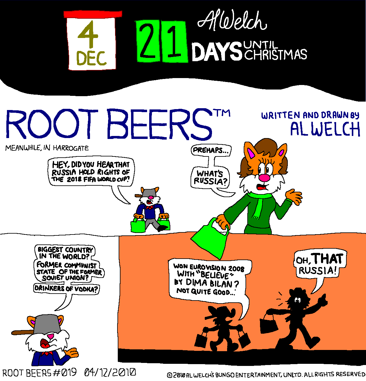 Advent 2010: Day 5: Root Beers #019 - What Russia?