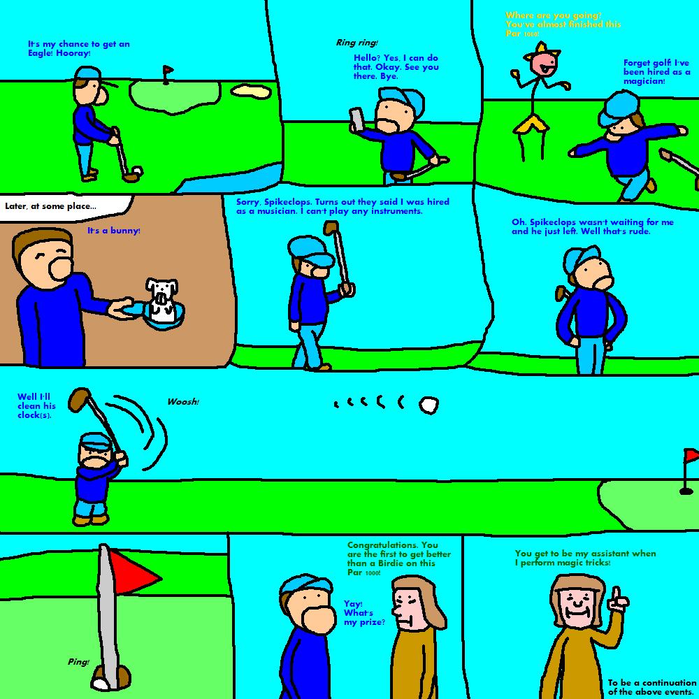 Just a Strip About Golf