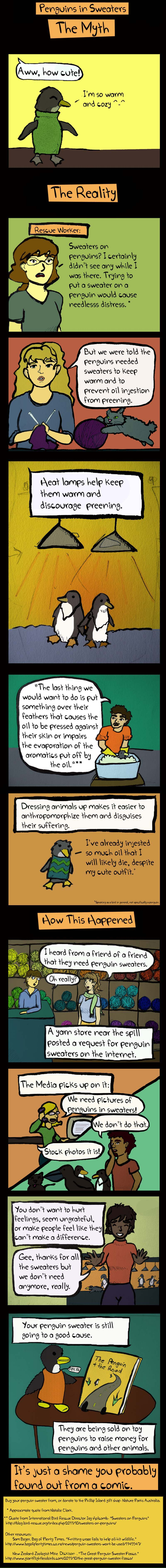 Penguins in Sweaters