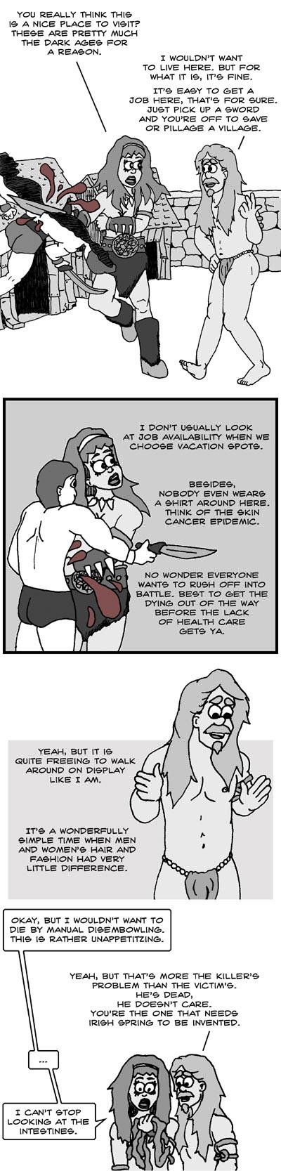 Conan - It takes guts to disembowel barehanded
