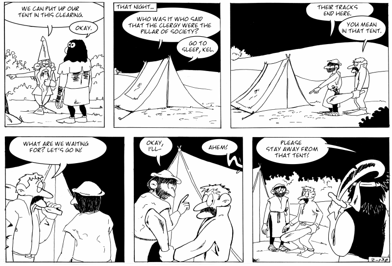 Tent trouble and bad jokes...