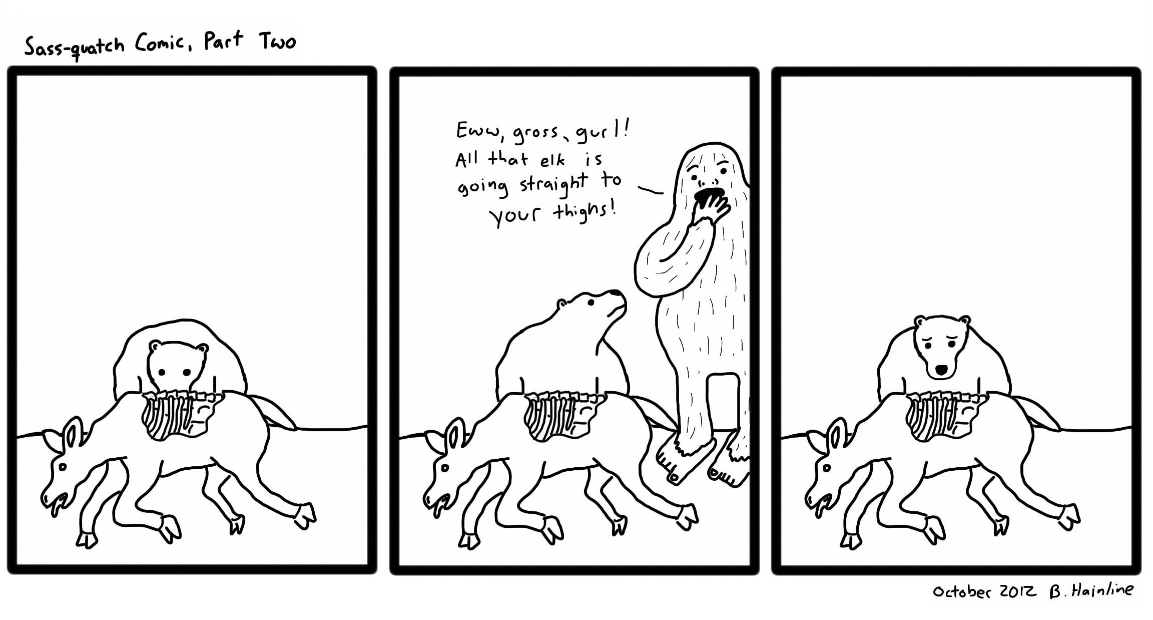 Sass-quatch Comic, Part Two