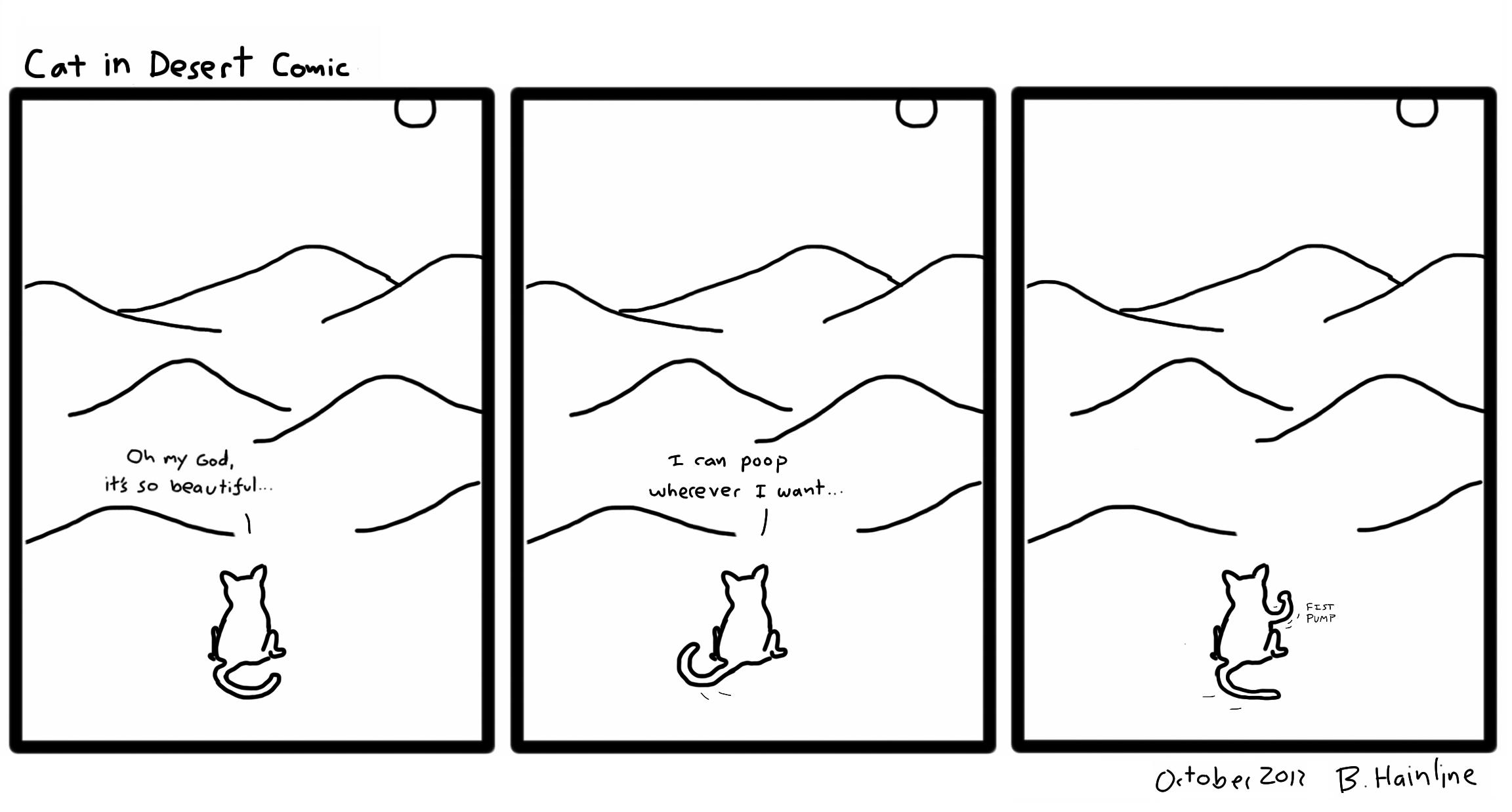 Cat in Desert Comic