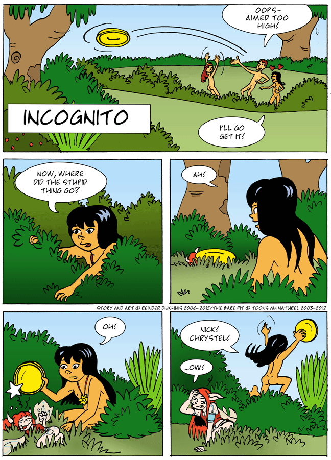 Zinni finds something in the bushes
