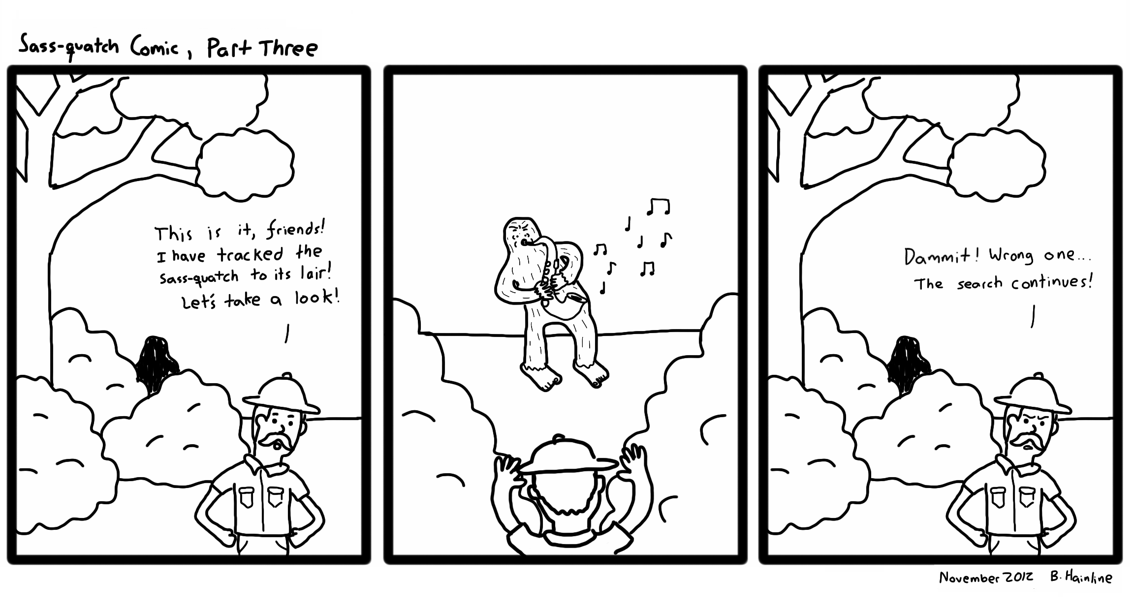 Sass-quatch Comic, Part Three