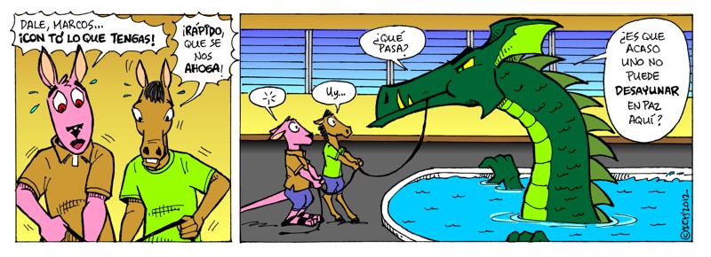 El monstruo de la piscina #2