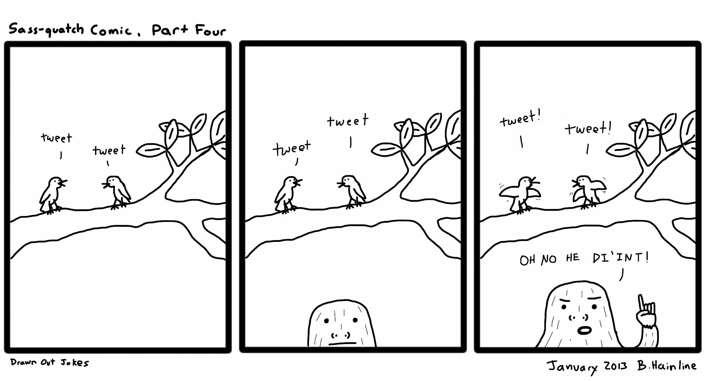 Sass-quatch Comic, Part Four