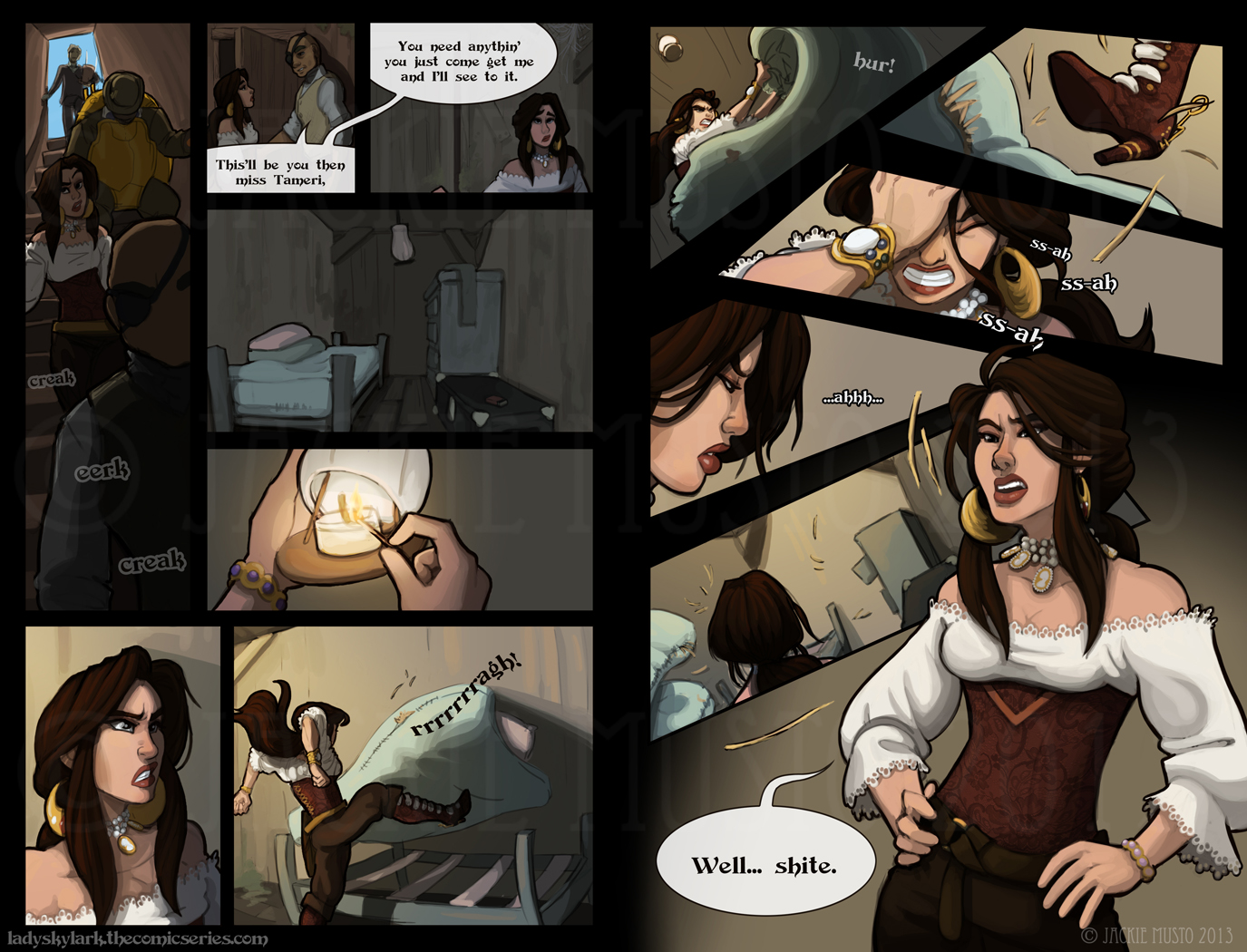 Lady Skylark and the Queen's Treasure - Page 44-45