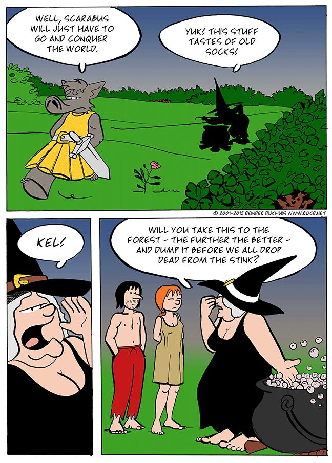 Scarabus revises his plans
