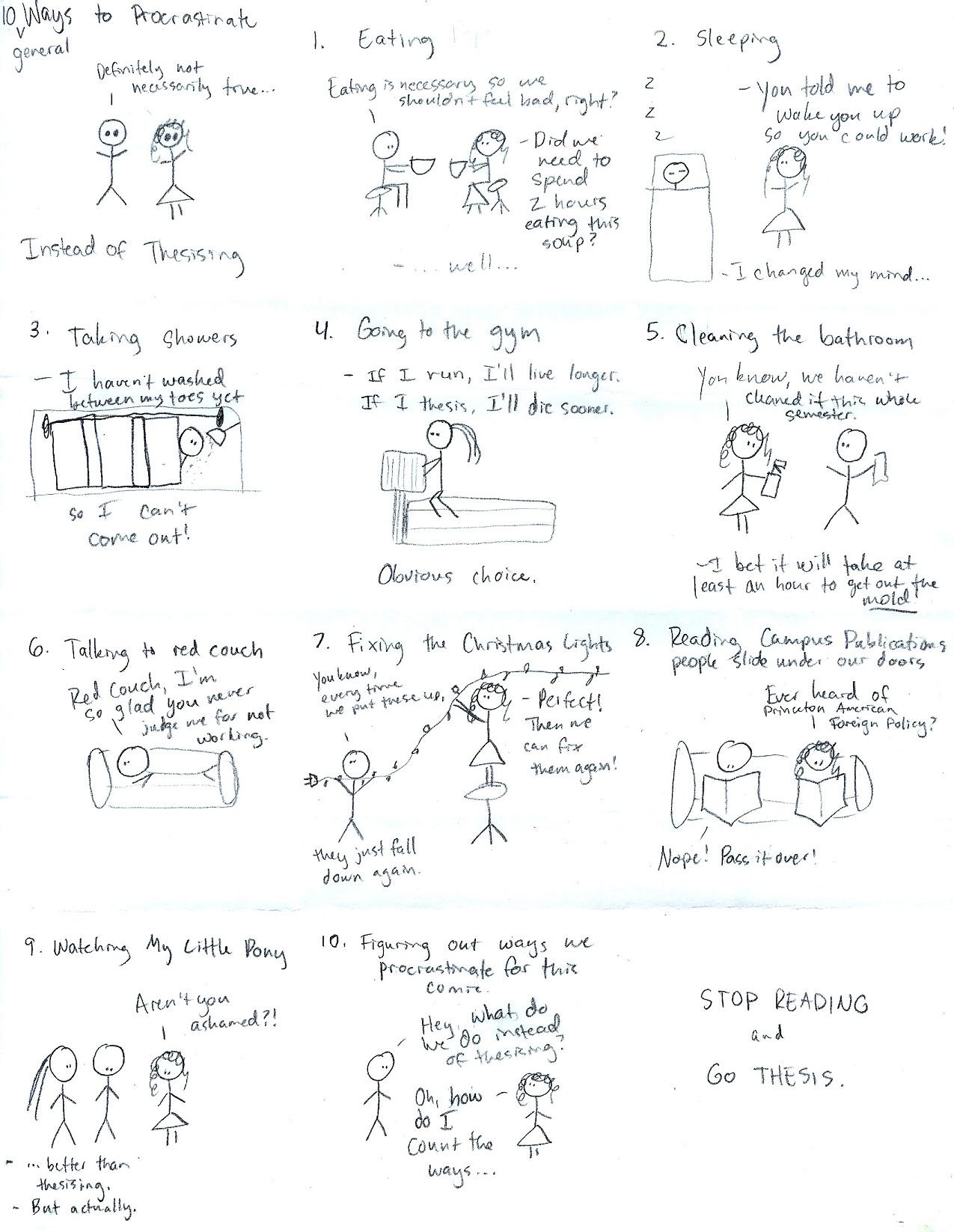 10 Ways to Procrastinate