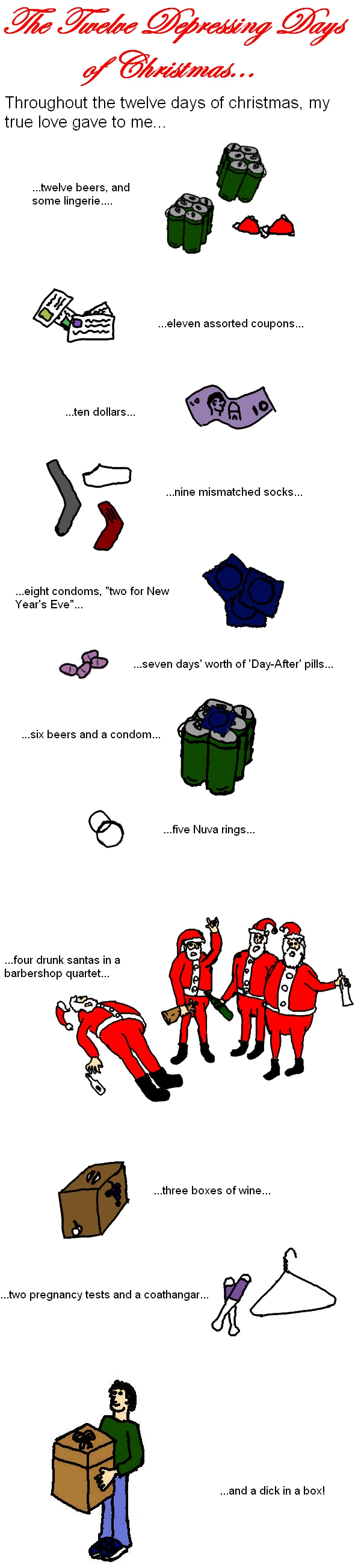 Twelve Depressing Days of Christmas