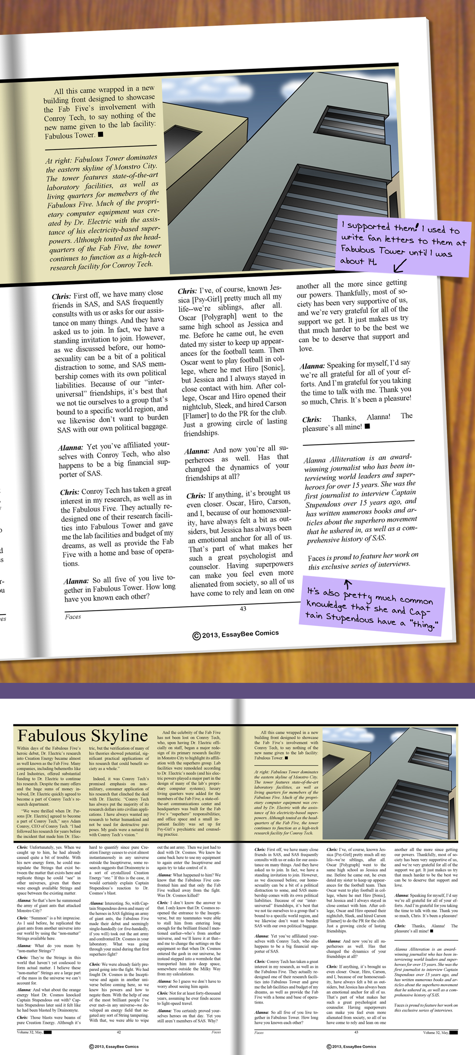 Interleude--Faces Magazine Interview Page 06 (and 2-page layout)