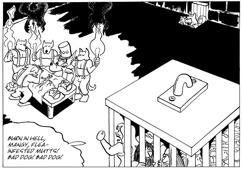 Burn in hell, flea-infested mutts!