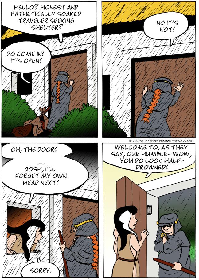 Oh! The door!