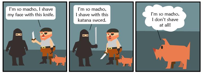 Macho Shaving
