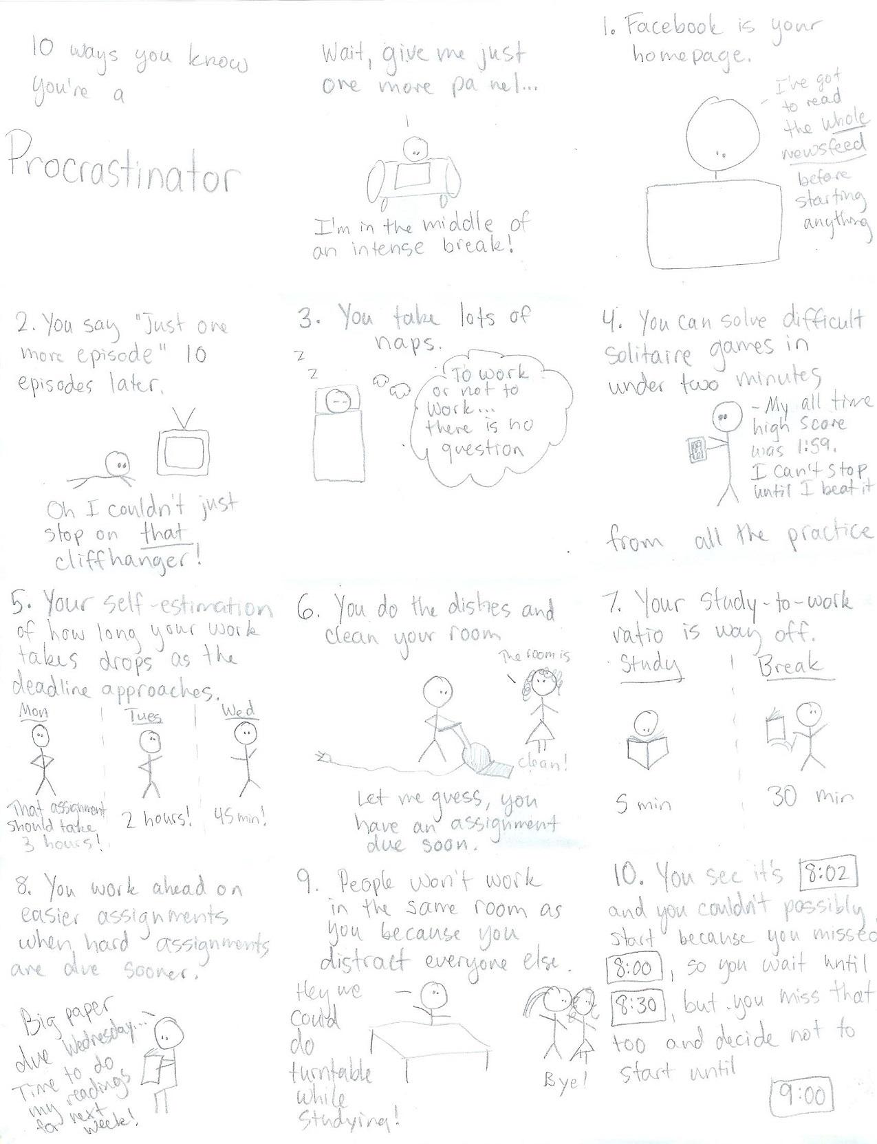 10 ways you know you're a procrastinator