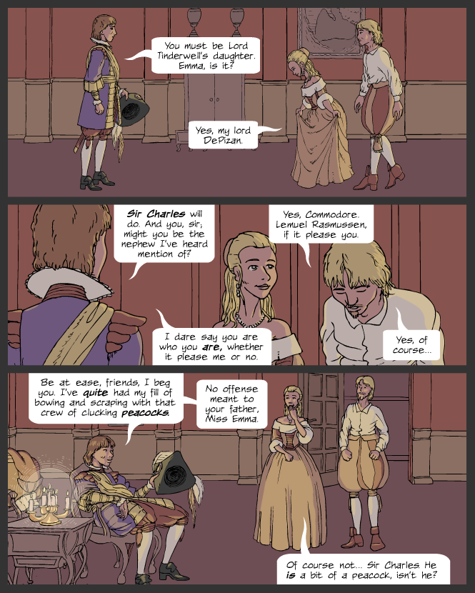 Sir Charles and the Peacocks