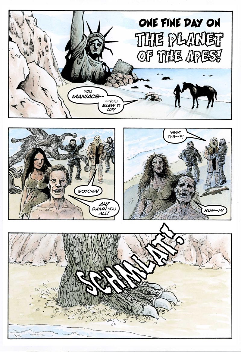 One Fine Day On the Planet of the Apes 1
