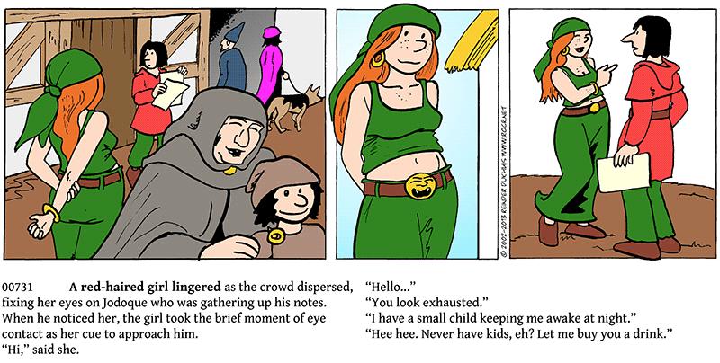 Red-headed trouble in a green bandana