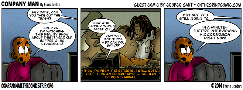 Guest strip week: Another Geo Gant couch gag! 4/4/14