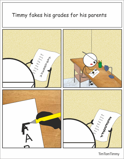 Faking grades