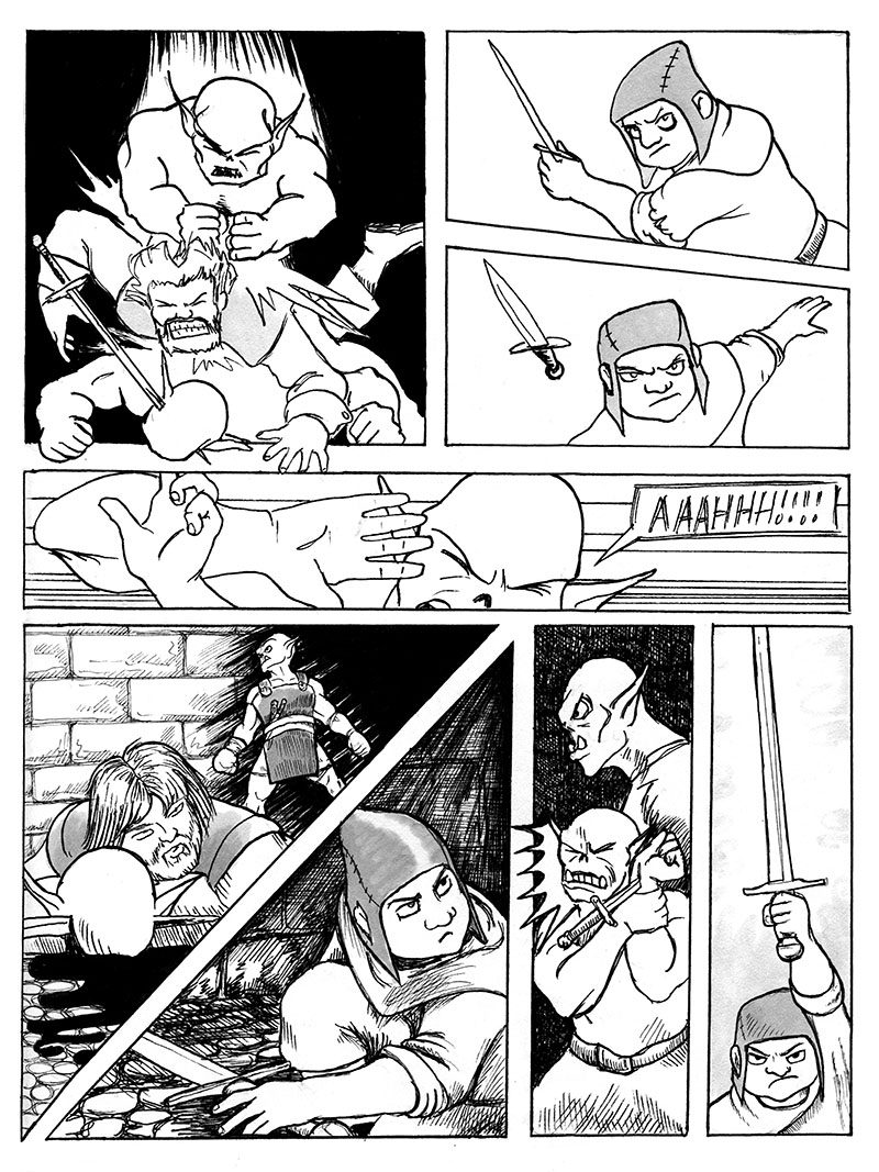 Sarkin Throws a dagger