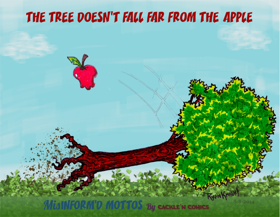 The Tree doesn't fall far from the Apple