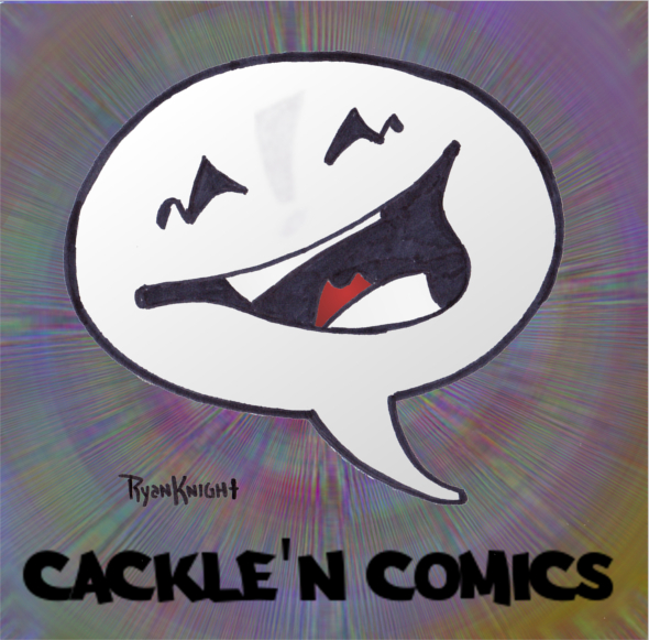 Cackle'N Comics Mascot